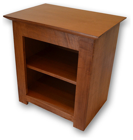 Secret Compartment Nightstand -Type 1, Brown Oak, Touch Latch contemporary-nightstands-and ...
