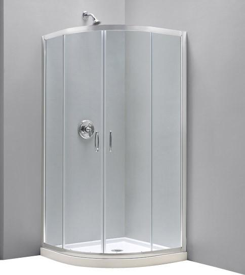 "DreamLine Prime Frameless Sliding Shower Enclosure and SlimLine 33"" - Contemporary - Shower ..."