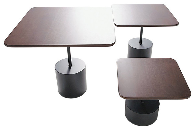 Innovation Living Quarter Mocha Maple Tables, Set of 3 contemporary-indoor-pub-and-bistro-tables