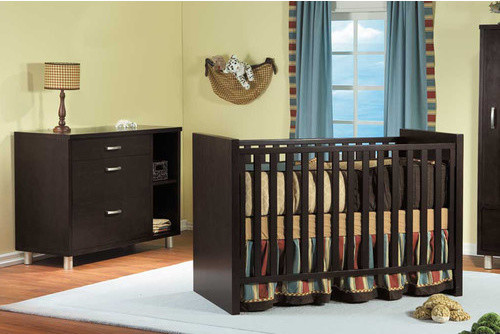 Milano 3-in-1 Convertible Crib Set modern-cribs