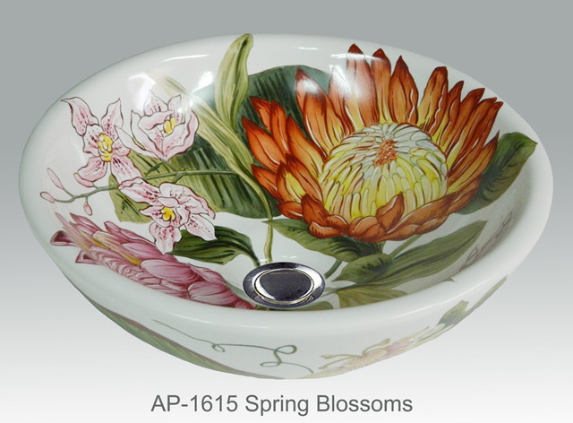 Hand Painted Vessels Sinks By Atlantis Tropical