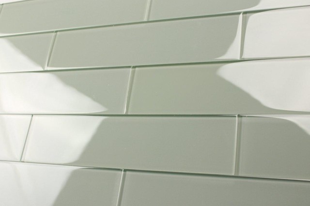 Bodesi Ethereal 3x12 Solid Color Subway Mosaic Glass Tile 3x6 Sample (Qty 1) contemporary-tile