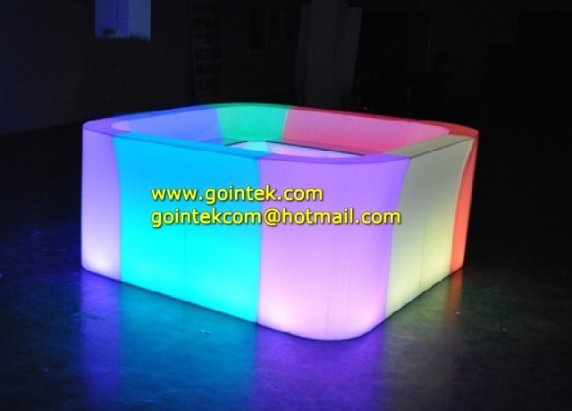 Rechargeable Battery And Illminated Led Furniture Counter modern-indoor-pub-and-bistro-tables