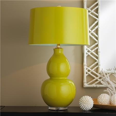 Table lamp with lime green shade best inspiration for table lamp ceramic table lamp lime green with aqua lining modern table mozeypictures Choice Image