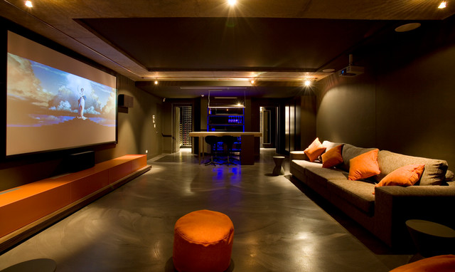 Theatre Room - Modern - Home Theater - other metro - by MINOSA