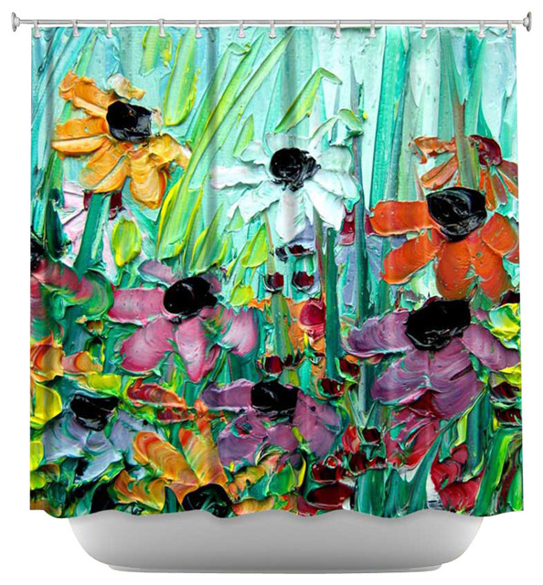 Shower Curtain Artistic - Stories from A Field Act lxi contemporary-shower-curtains
