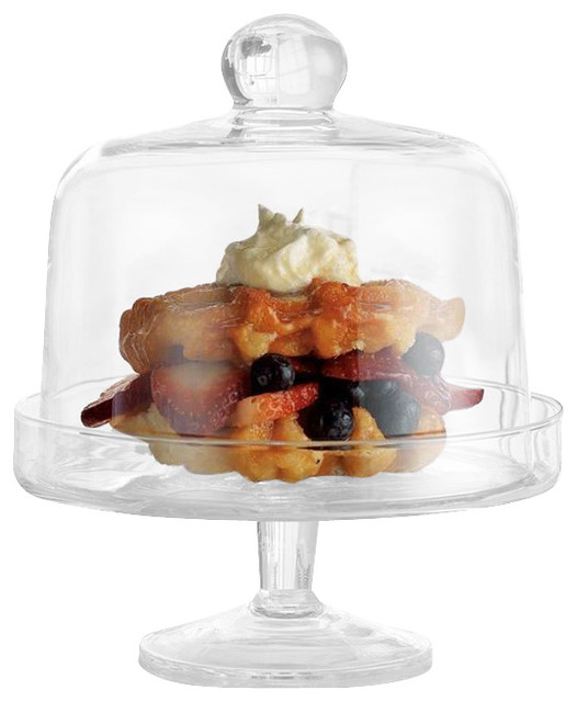 Terra Cupcake Stand With Dome traditional-serveware