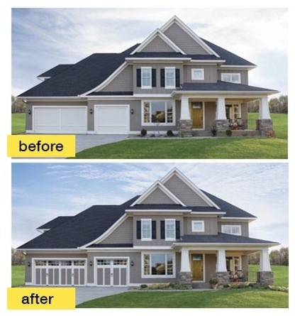 Before and after garage makeovers traditional exterior How to do a home makeover