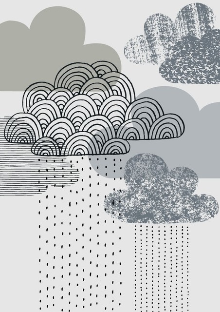 Looks Like Rain Print by EloiseRenouf contemporary-artwork