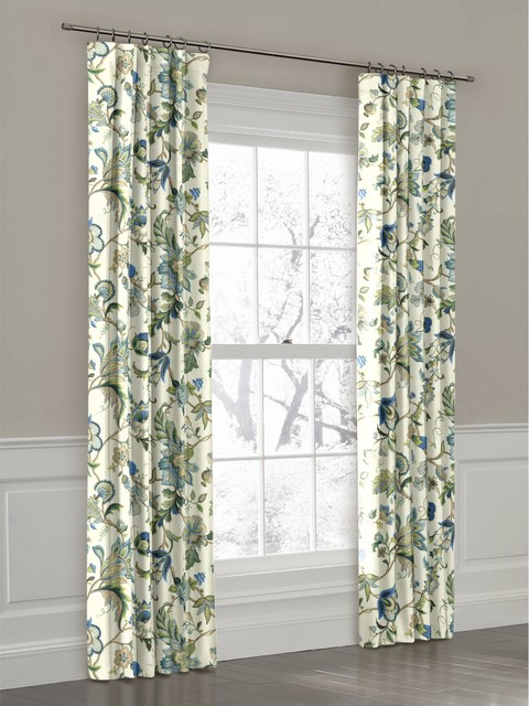 ... Floral Ring Top Drapery Panel - Curtains - new york - by Loom Decor