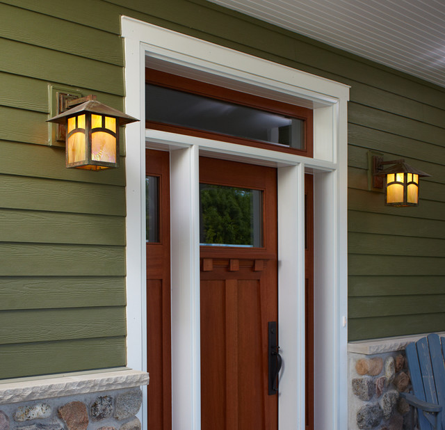 Bungalow Entryway Exterior Lighting Traditional