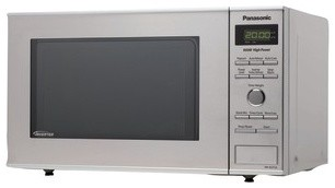 0.8 Cubic Feet 950-Watt Inverter Microwave, Stainless Steel contemporary-microwaves