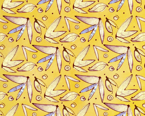 Butterfly Leaf Solar Power Designer Fabric - Abstract butterflies and leaves on tone on tone to mix & match. Perfect for tabletop, bedding, pillows, children's and more. Yardage available in cotton sateen, linen cotton blend, cotton voile, upholstery weight cotton twill and cotton silk.