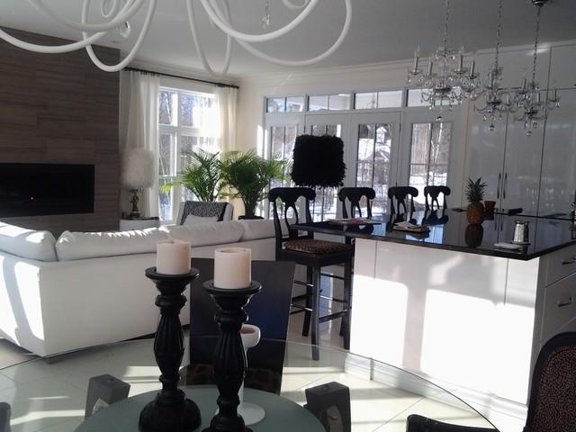 Living space modern-kitchen