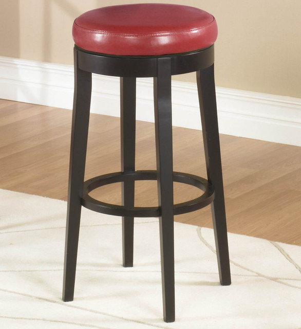 30in. Backless Swivel Barstool in Red contemporary-bar-stools-and-counter-stools