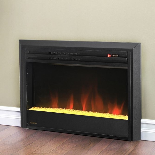 Muskoka 25-in Contemporary Plug-In Electric Fireplace Insert - MFBC27TBL3A-5 contemporary-indoor-fireplaces