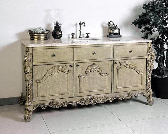 "Ornate and Antique Bathroom Vanities - Legion Furniture 60"" Bathroom Vanity W5433-11 New 2013 design"