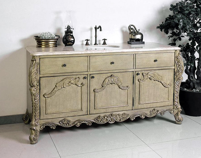 Ornate and antique bathroom vanities traditional - Antique traditional bathroom vanities design ...