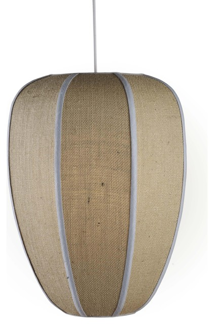 Jamie Young Co. Raj Pendant in Natural Burlap traditional pendant lighting