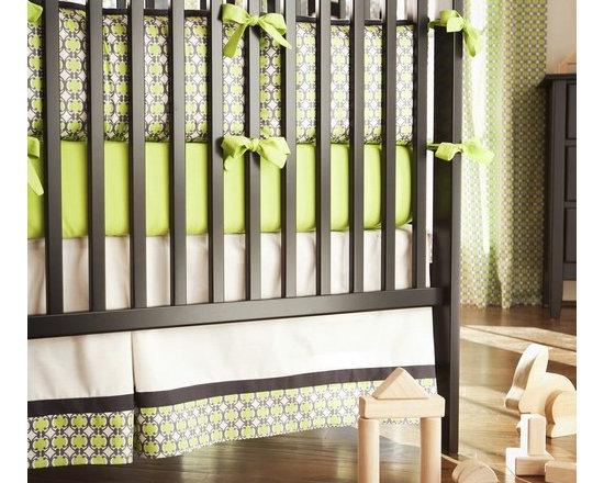 Organic Geometric Crib Skirt -