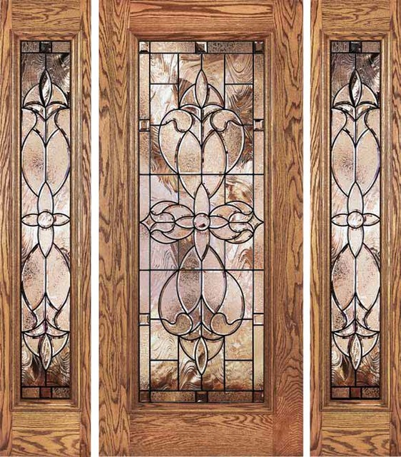Jeld wen 880 oak door and sidelights chappo finish - Jeld wen exterior doors with sidelights ...