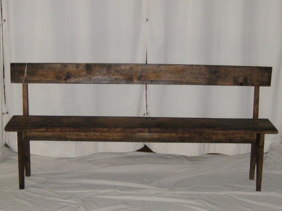 Cherry Shaker Style Bench By Mc Metzger Traditional Indoor Benches By Etsy