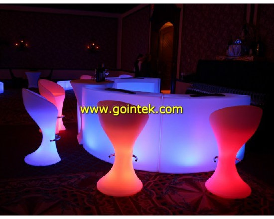 glowing PE led furniture with rechargeable battery -