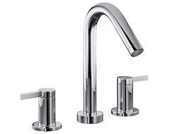 Kohler Stillness® Widespread Bathroom Faucet modern-bathroom-faucets