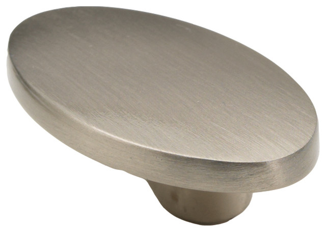 """Luna Satin Nickel Cabinet Knob, 1 5/8"""" traditional-cabinet-and-drawer-knobs"""