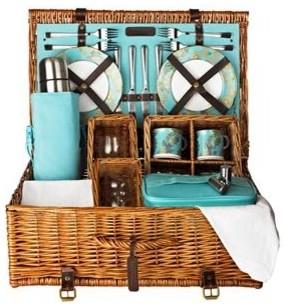 F Amp M Premier Tea And Wine Picnic Basket 4 Person