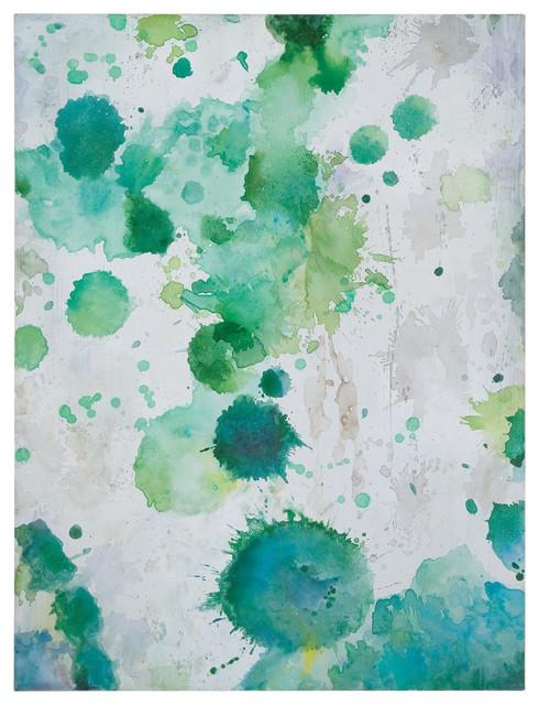 Spots of Emerald Modern Art traditional-artwork