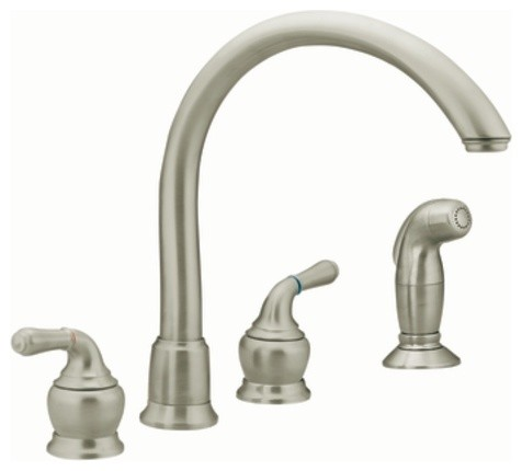Moen Monticello Stainless Two Handle High Arc Kitchen Faucet Kitchen Faucets New York By