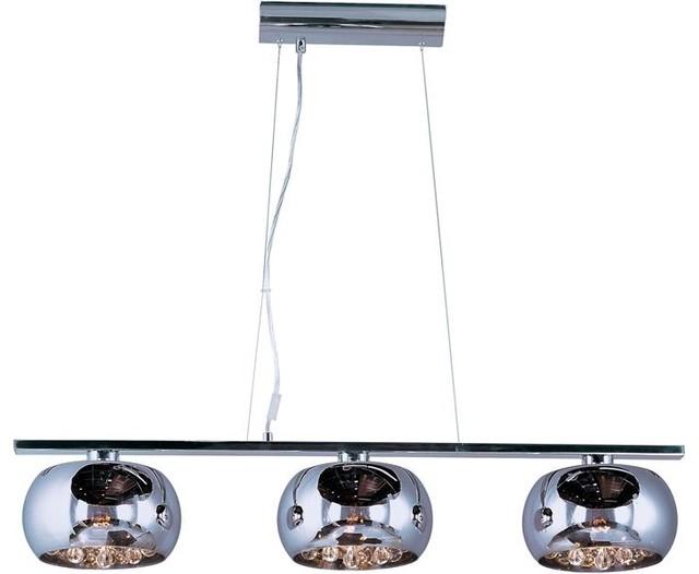 ET2 Lighting E21204-10PC 3 Light Pendant Sense Collection pendant-lighting