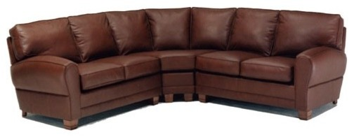 Kensington 3 Piece Leather Sectional modern-sectional-sofas