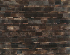 Dark Brown Cowhide Patchwork Rug  rugs
