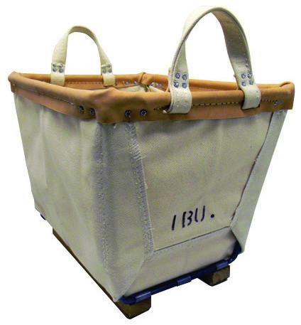 1 Bushel Canvas Basket eclectic-storage-bins-and-boxes