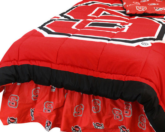 College Covers - NCAA North Carolina State King Comforter Set Cotton Bedding - Features: