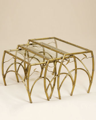 Maitland-Smith Three Nesting Tables traditional-side-tables-and-end-tables