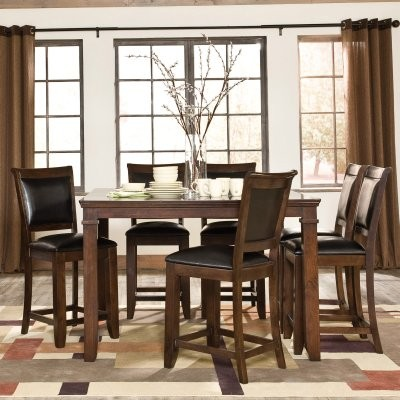 Standard Furniture Austin 9 Piece Counter Height Dining Table Set ...