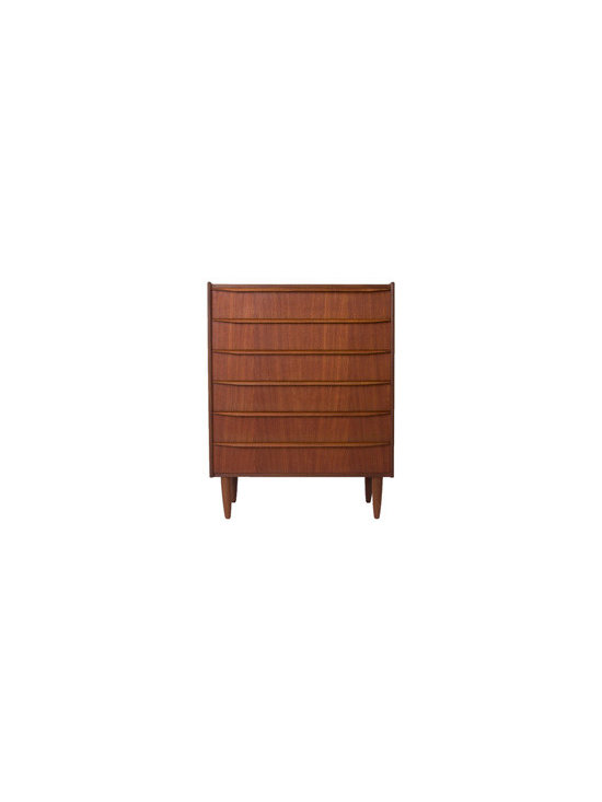 Vintage Danish Modern 6-Drawer Chest -