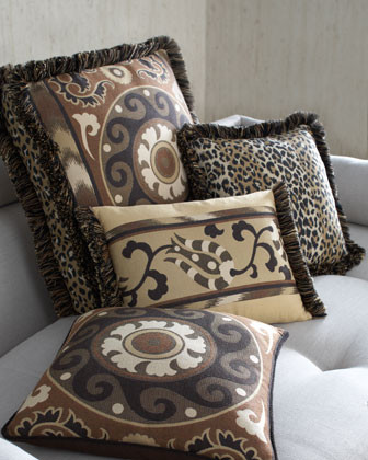 Suzani Fringed Spice Box Pillow traditional-outdoor-cushions-and-pillows