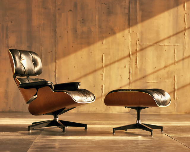 Eames Lounge Chair and Ottoman midcentury-living-room-chairs