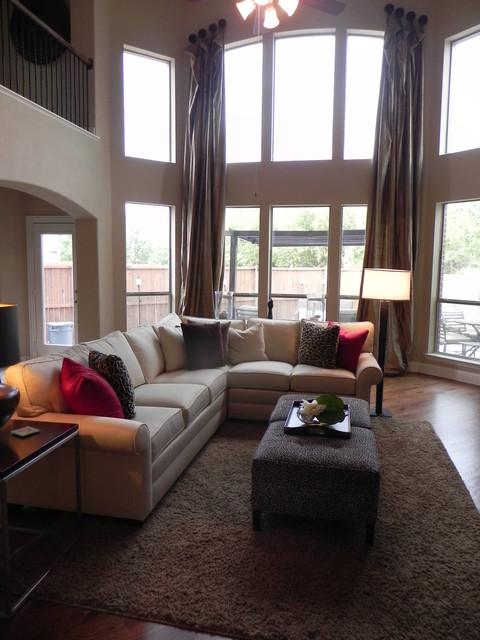 Earthy modern living-room