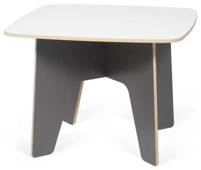 Kids Table, Slate Gray/White contemporary-kids-tables-and-chairs