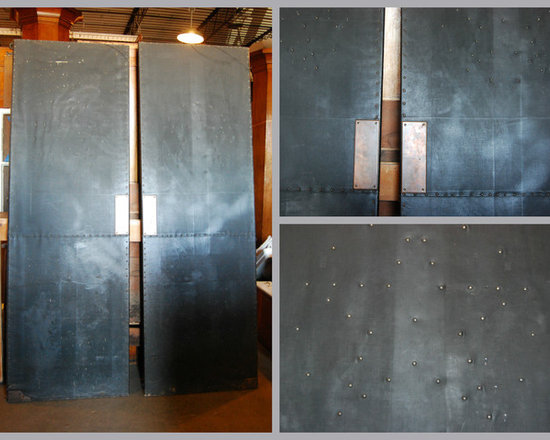 Unique Items- things to design a space around - These faux leather doors would be a great thing to incorporate into a space. We have some swinging ones and some in frame. They are from an old theater but would look great in a home, restaurant, or any other unique space.