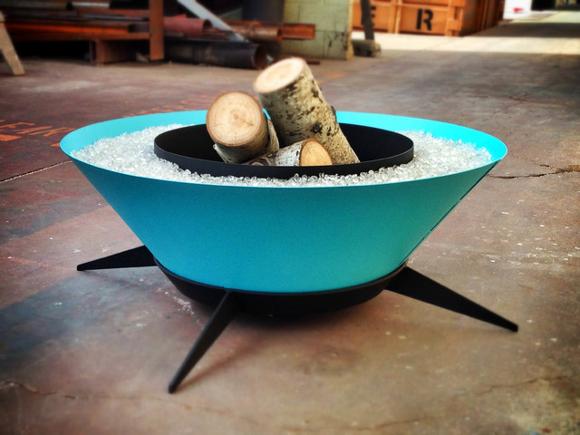 Stunning In Aqualux A Midcentury Modern Fire Unit Modern Fire Pits