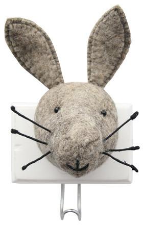 Fiona Walker England Hare Head Wall Hook modern-clothes-racks