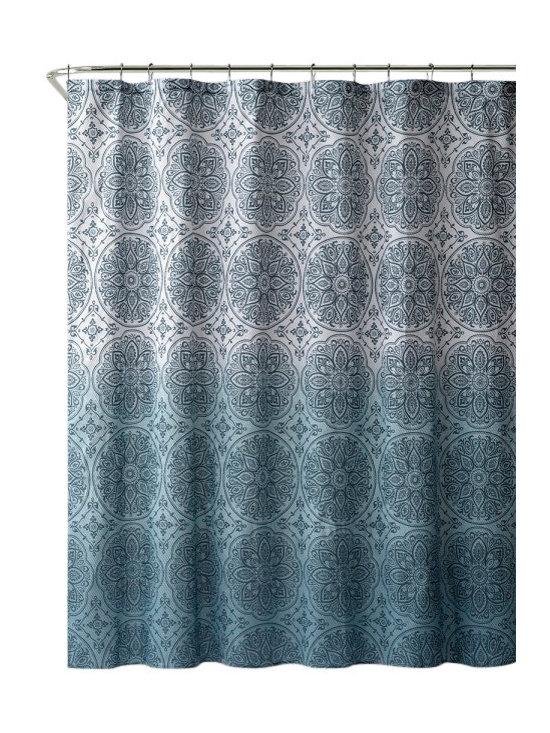 "Vienna Aqua Embossed Microfiber Shower Curtain- 72""x 72"" - Vienna Aqua Embossed Microfiber Shower Curtain- 72""x 72"