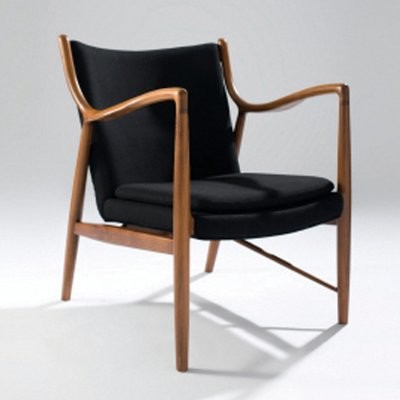Nuevo Chase Am Walnut Lounge Chair modern-living-room-chairs