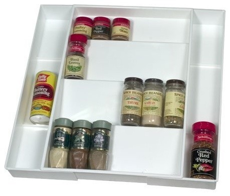 Expanding Drawer Spice Organizer  cabinet and drawer organizers